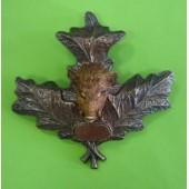 Лист дубовый с кабаном (металл)
